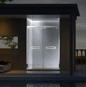 73P02不鏽鋼推拉屏風淋浴房
